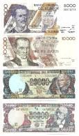 Ecuador Set 5000 / 10000 / 20000 / 50000 Sucres 1999 UNC - Ecuador