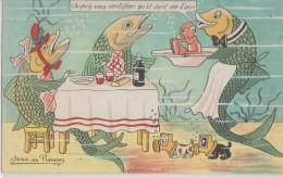 """Jean  De  Preissac  -   """"Je  Puis  Vous  Certifier  Qu,il  Sort  De  L,air """"  -  Poissons  Mangent  Sous -marin - Humor"""