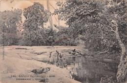 "04424 ""AFRIQUE OCCIDENTALE - GUINEE - DUBREKA - QUENENDE'"" ANIMATA, BAMBINI. CART NON SPED - Guinea"