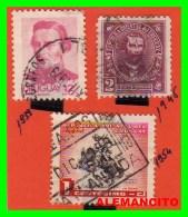 URUGUAY ( AMERICA ) 3 SELLOS AÑO 1939-54 - Uruguay