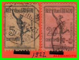 URUGUAY ( AMERICA )  2 SELLOS  AÑO 1922 - Uruguay
