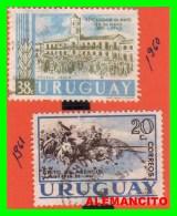 URUGUAY   ( AMERICA )   2 SELLOS AÑO 1960-61 - Uruguay