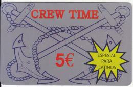 GREECE - Crew Time Prepaid Card 5 Euro, Sample - Greece