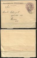 G)1905 MEXICO, EMBOSSED 1 CT. EAGLE  WRAPPER POSTAL STATIONARY, CIRC. VERACRUZ CANC., CIRCULATED TO MEXICO, XF - Mexico
