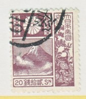 JAPAN  176a  OLD DIE  19 Mm  (o)   1922-1929 Issue - Used Stamps