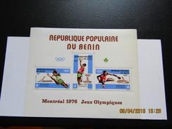 JO149     Olympiques Montréal Olympic Games   Benin  SS   MNH - Ete 1976: Montréal