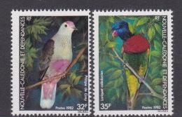 New Caledonia SG 684-85 1982 Birds MNH - Nuevos