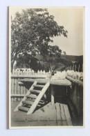 STOCKADE, CHAUVIN'S TRADING POST, TADOUSSAC, QUEBEC, CANADA, 1945, Real Photo Postcard RPPC - Quebec