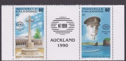 New Caledonia SG 887-88 1990 New Zealand 90 MNH - New Caledonia