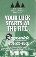 Fitzgeralds Casino Room Key Card - Reno, NV - THANK YOU Spaced Up From Bottom - Hotel Keycards