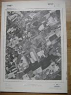 GRAND PHOTO VUE AERIENNE 66 Cm X 48 Cm De 1979 OHEY JALLET - Topographische Karten