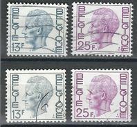 COB  1747/1748 + 1747P5 + 1748P5  (o)  - (Lot 74) - Belgique