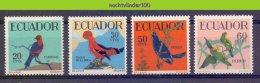 Ndc057 FAUNA VOGELS ROTSHAAN PARROTS BIRDS VÖGEL AVES OISEAUX ECUADOR 1958 PF/MNH - Collections, Lots & Series
