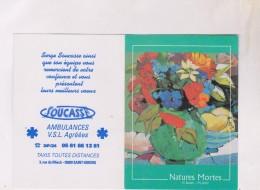 PETIT CALENDRIER EN  2 VOLETS  2002, (ambulances Soucasse A St Girons Dpt 09) - Calendarios