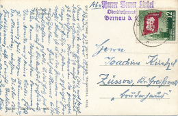 BERLIN - 1953 , AK Aus Bernau Nach Züssow - DDR