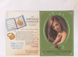 PETIT CALENDRIER EN  2 VOLETS  1968, (la Medaille D Amour) - Petit Format : 1961-70