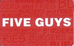 Five Guys Restaurants Gift Card