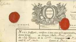 140e DB - GERMERSHEIM 1794 - General VANDERMAESEN (1766-1813) Et Conventionnel ROUGEMONT (1764-1817) Wachenheim - Documentos Históricos
