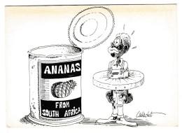 CABACHOT - Ananas From South Africa - Humour, Racisme, MRAP - édit. Salon Bande Dessinée, Angoulème  1989 - Autres Illustrateurs