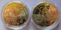 "Ukraine - 2 Grivna Coin 2010  ""The First Centenary Of Ice Hockey In Ukraine"" UNC - Ucraina"