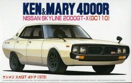 Nissan Skyline 2000GT-X ( GC110 ) Ken&Mary 4Door 1/24 (  Fujimi ) - Cars