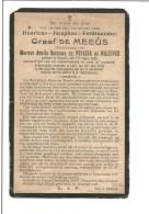 A41.  GRAAF  De  MEEÛS  Wed. Baronnes De POTESTA De WALEFFES  -  °BRUSSEL  1826 / + LUIK 1913 - Images Religieuses