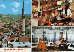 Yugoslavia.Bosnia And Herzegovina.Sarajevo Mosque.craft.musics .Islam.USED POSTCARD - Islam