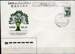 LITAUEN 1990 - Ganzsache Umschlag U2 Gebraucht - Litauen
