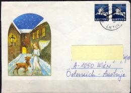 LITAUEN 1991 - Schmuckbrief Vilnius - Wien - Litauen