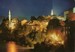 Yugoslavia.Bosnia And Herzegovina.Mostar Mosque.Islam.USED POSTCARD - Islam