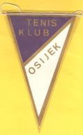 Old Sport Flag, Tennis, Wimpel, Pennant - TK Osijek - Apparel, Souvenirs & Other