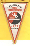 Old Sport Flag, Table Tennis, Wimpel, Pennant - Table Tennis, Polska - Tischtennis