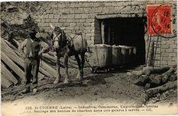 CPA SAINT-ETIENNE - Roulage Des Bennes De Charbon Dans Une Galerie (210921) - Zonder Classificatie