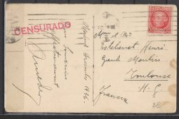 """Espagne - N° 532 Obli/sur Carte """" Madrid ... """" + Cachet """" Censurado """" - 1931-Today: 2nd Rep - ... Juan Carlos I"""