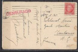 "Espagne - N° 532 Obli/sur Carte "" Madrid ... "" + Cachet "" Censurado "" - 1931-Aujourd'hui: II. République - ....Juan Carlos I"
