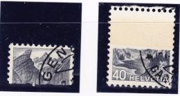 Schweiz 1936-38  #209y.1.08 Gestempelt Klebestelle - Variétés
