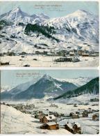 DAVOS DORF 2 AK Farblitho 1906 - GR Graubünden