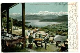 UETLIBERG Café Mit Leben Und Gedeckte Tischen 1904 Farbe - ZH Zürich