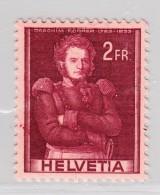 Schweiz 1941 #251.2.01 ** Abart Oberst Forrer 2Fr. Kleine Doppelprägung - Variétés