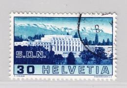 Schweiz 1938 #212-pf.4 Gestempelt Strich Vor Der Ersten Säule - Variétés