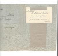 AUTOGRAPHE , Carte De Visite , Colonel Vadon , Commandant Le 107 è D'Infanterie à Angoulême 1888 - Manuscripts
