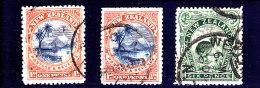 1898 - NEW ZEALAND - O/FINE CANCELLED - TAUGU LAKE, KIWI  Yv 71, 77 - Used Stamps