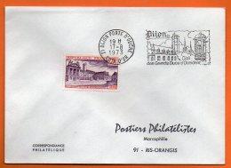 21 DIJON     CITE DES GRANDS DUCS D'OCCIDENT( Timbre Concordant )1973 Lettre Entière N° X 502 - Marcophilie (Lettres)