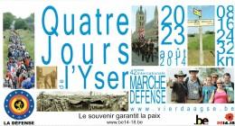 Militaria Dépliant Sur Les 4 Jours De L´Yser Vierdaagse IJzer Marche De La Défense Voettocht Van Defensie, 2014 - Programma's