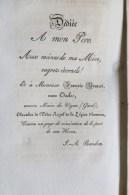 These De Bachelier En Theologie Faculté Protestante Montauban Obtenu Par Mr Randon Saint Jean Du Bruel Aveyron 1829 - Documenti Storici