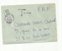 """Divers Taxe """" Fleurs Des Champs """" Sur Lettre Non  Affranchie - Impuestos"""