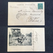 1902. FRENCH GUINEA. CONAKRY - LOANGO TO BURDEOS - TANGER. POSTCARD. - Guinea Francesa
