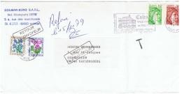 FLORA-L189 - FRANCE Lettre Commerciale Taxée Fleurs Diverses 1979 - Autres