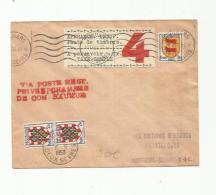 Lettre De Grève  De Saumur  Taxée 4 Frs CaD De Thoiuars Du 11 09 1953 - Postmark Collection (Covers)