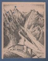 POSTKARTE FAHRKARTE 1954 - BERGFAHRT INNSBRUCK - HUNGERBURG - INNSBRUCKER NORDKETTENBAHN FEDERZEICHNUNG VON W. BEINLICH - Europa